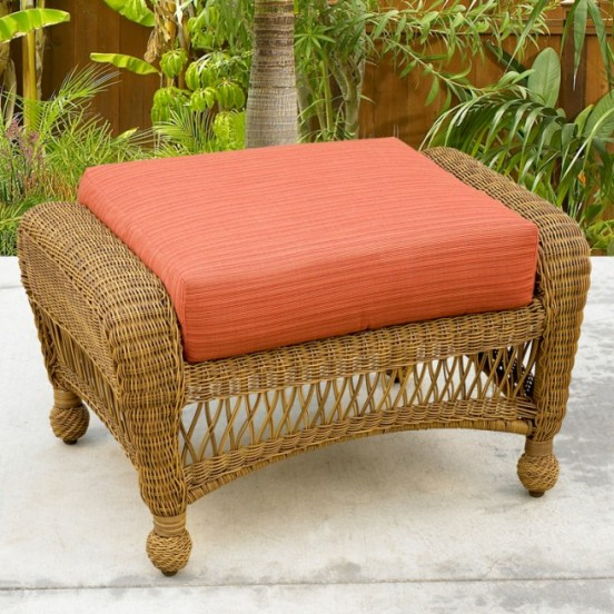 Port Royal and Charleston Ottoman Replacement Cushion