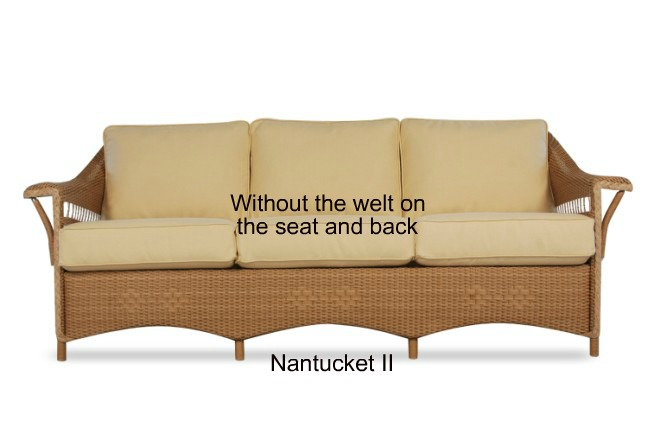 nantucket ii sofa replacement cushions wicker imports online