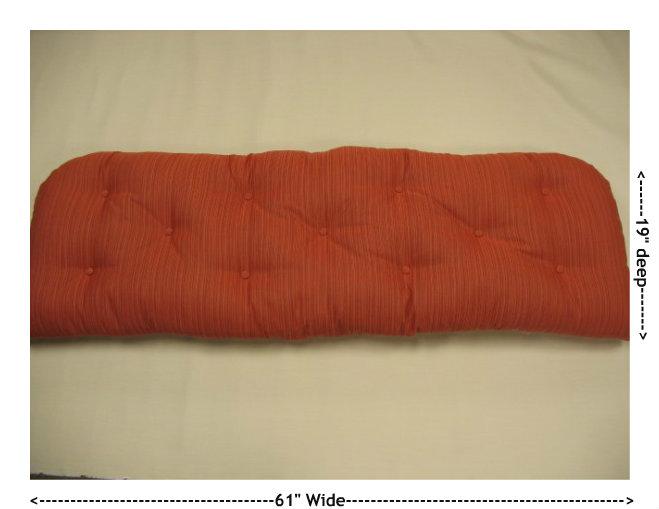 Standard Wicker Sofa Replacement Cushion
