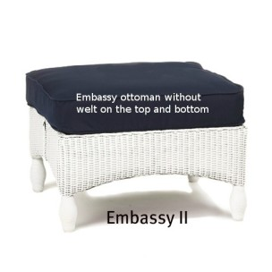 Embassy II Ottoman Replacement Cushion
