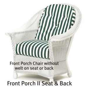 Front Porch II Chair Seat and Back Replacement Cushions