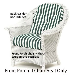 Front Porch II Chair Seat Replacement Cushion
