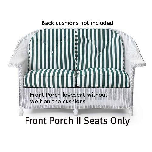Front Porch II Loveseat Seat Replacement Cushions