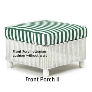 Front Porch II Ottoman Replacement Cushion