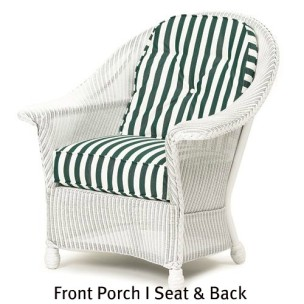 Front Porch I Chair Seat and Back Replacement Cushions  sc 1 st  Wicker Imports & Front Porch Replacement Cushions - Wicker Imports Online