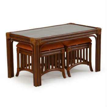 Palm Springs Islamorada Coffee Table with Stools