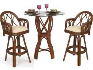 Palm Springs Jamaica 3 Piece Counter Height Set