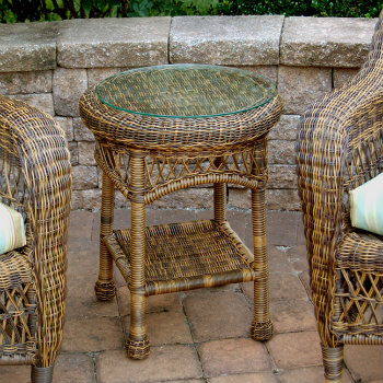Chasco Designs Sanibel Round End Table